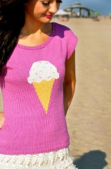 """With Sprinkles on Top"" Ice Cream T-Shirt with Bow Back"