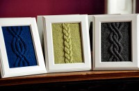 Cable Panels Knitted Wall Art  Girly Knits