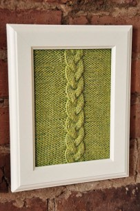 """Cable Panels"" Knitted Wall Art"