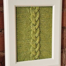 """""""Cable Panels"""" Knitted Wall Art"""