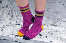 """Roller Girl"" Striped Socks"