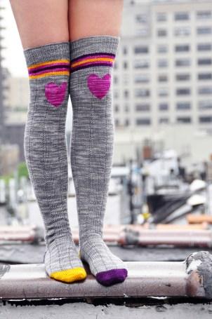 """""""Roller Girl"""" Striped Socks"""