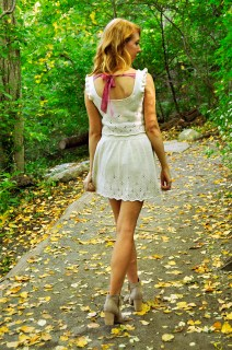 """""""Twirl of Your Dreams"""" Crop Top and Skater Skirt Set"""