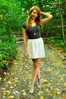"""Twirl of Your Dreams"" Crop Top and Skater Skirt Set"