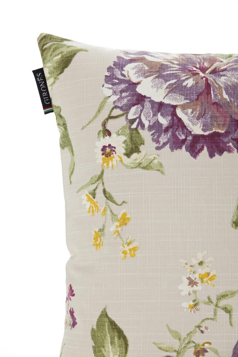 t cushion sofa cover modular 1 lugar funda de cojín flor amaranda burdeos - gironeshome ...