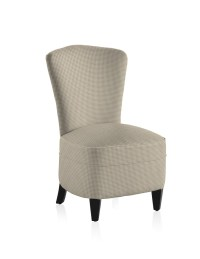 French Vintage Gingham Grey Bedroom Chair