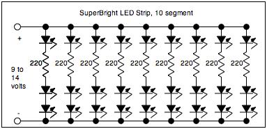 Due semplici led driver per Power LED
