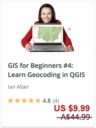 Click to enrol in this geocoding QGIS tutorial