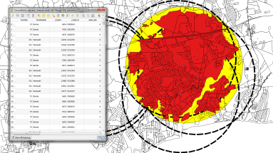 One uses of GIS is an application of GIS in urban planning - Finding a site for a school