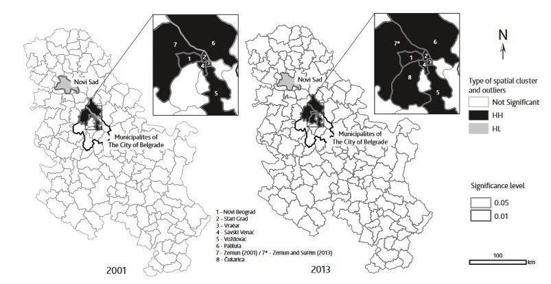 Spatial autocorrelation analysis of tourist arrivals using