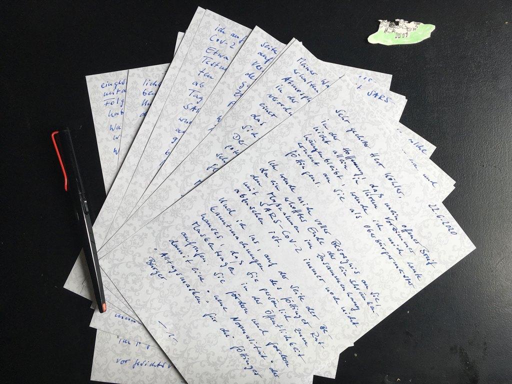 handschriftlicher offener Brief an den Oberbürgermeister Rolf-Georg Köhler in Göttingen
