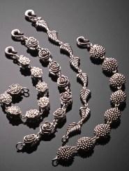 Bead Bracelets, Oxidized Sterling