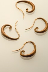 van Gogh Ear Hoops, Acid-Washed 18k Rose