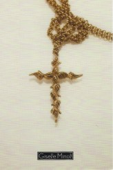 Leaf Cross Necklace Postcard