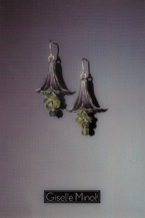 Madonna Lily Earrings Postcard