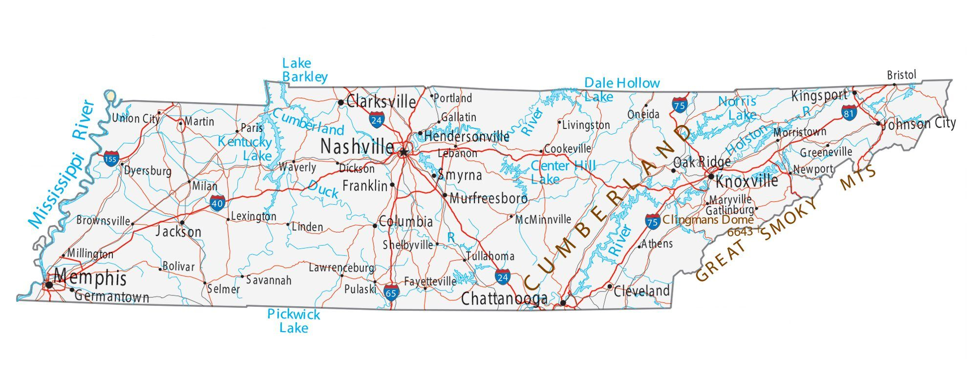 City maps for neighboring states:. Map Of Tennessee Cities And Roads Gis Geography