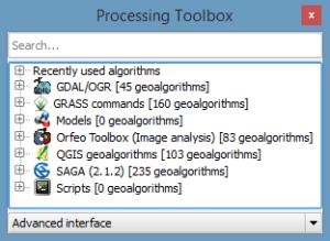QGIS Advanced GeoAlgorithms