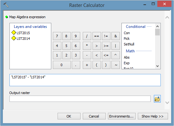 Raster Calculator