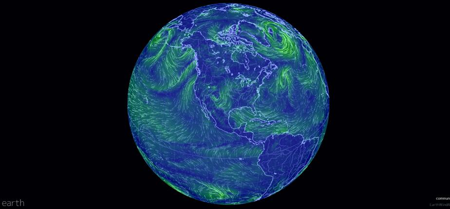 Earth Null School - Wind Map