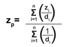 IDW Formula