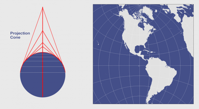Conic Projection Lambert Albers And Polyconic