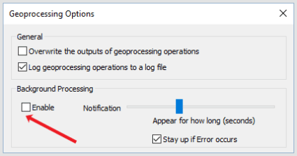 geoprocessing background processing