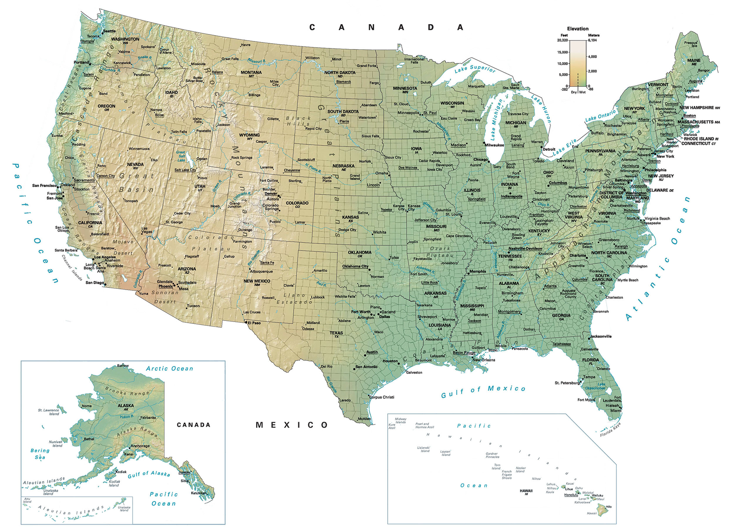 Map Of Usa United States Of America Gis Geography