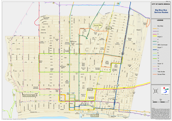 Bus Routes within the City of Santa Monica