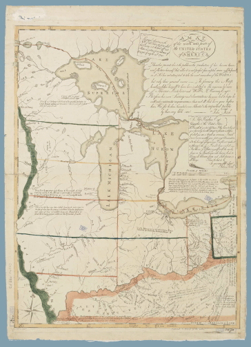 John Fitch, A Map of the North West Parts of the United States of America. Philadelphia, 1785. Image courtesy of Harvard Map Collection.