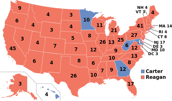 1980 presidential election map.