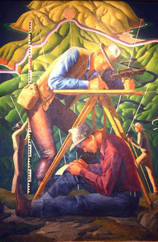 Cartographers in the Field by Hal Shelton, 1940.