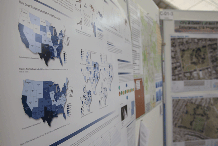 The Map Gallery in the Sails Pavillion showcases colorful and informational maps from users all around the world
