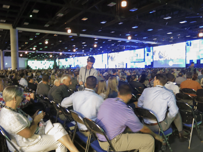 A packed plenary session where attendees saw some great new features and talks.
