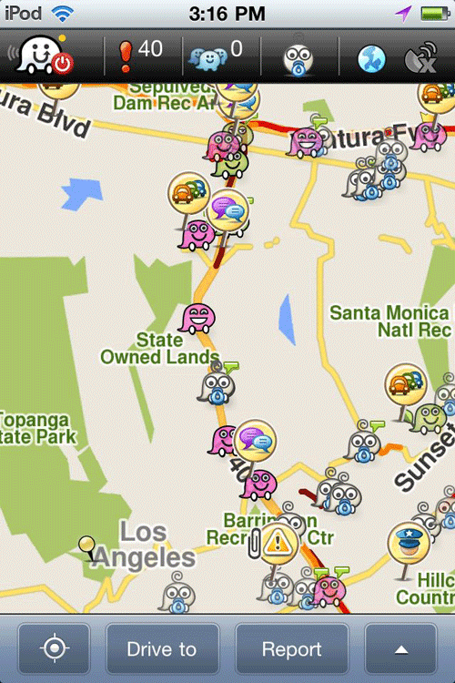 Traffic on the 405 in Los Angeles rarely flows.