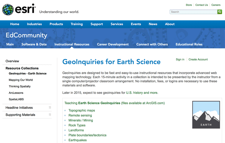 earth-science-GIS-lessons