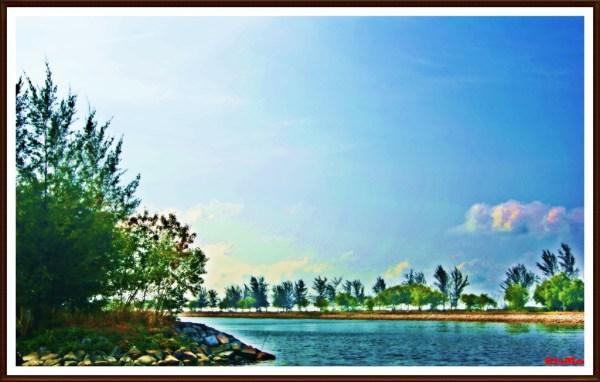 fake hdr brunei & miri landscape