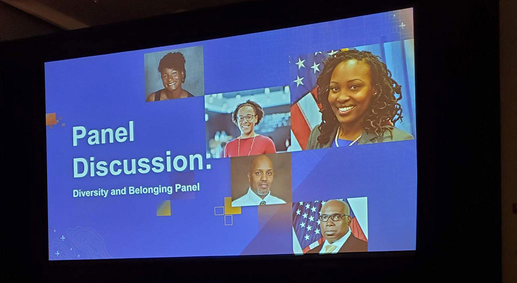 Opening slide of Diversity and Belonging Panel