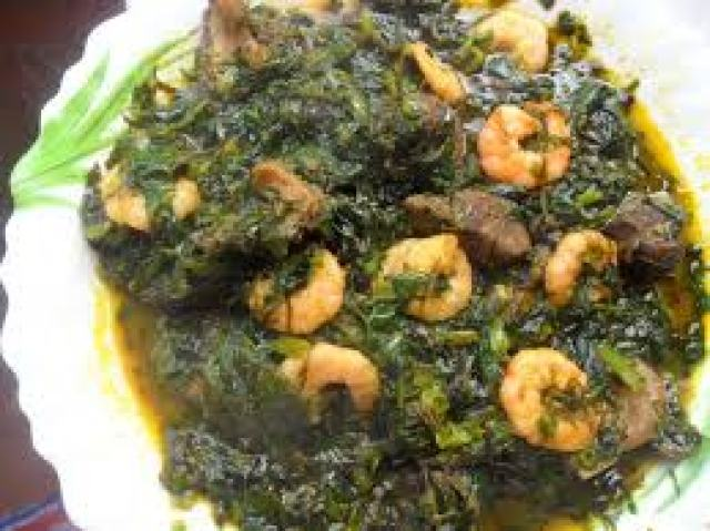 How to Prepare Vegetable Soup (Ugu Soup)