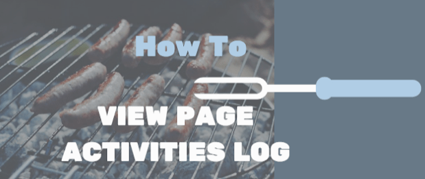 How do I view my Pages activity log on Facebook