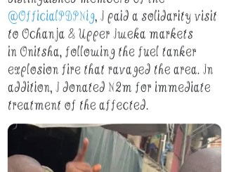 Peter Obi Donates N2 Million For Treatment Of Victims