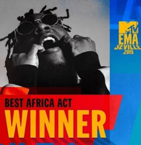 Burna Boy wins 'Best African Act' at MTV EMA 2019