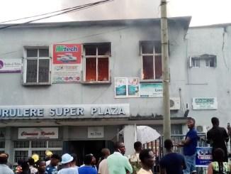 Surulere Super Shopping Plaza On Fire
