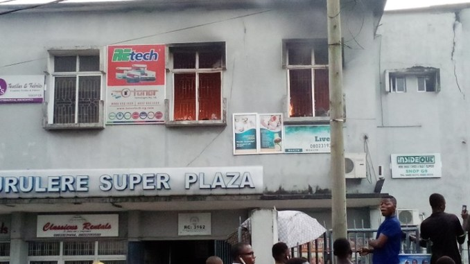 Surulere Super Shopping Plaza On Fire