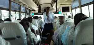 Bus preacher beaten to coma after condoms fell out of his bible
