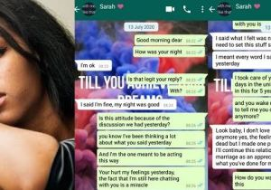 """I don't love you anymore but I'll marry you because you trained me in school"" – Lady tells boyfriend (Screenshots)"