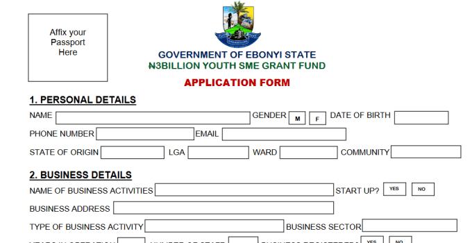 Lists of Names of Ebonyi N3 Billion Youth Grant Fund