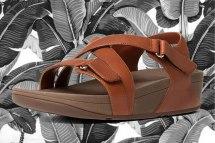 The Skinny Sandal in Dark Tan