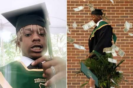 Rapper Metro Marrs Arrested And Detained After Spraying $10000 Cash At His Own High School Graduation Ceremony