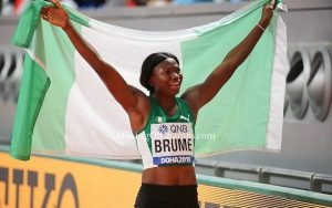 """Tokyo 2020 long jump bronze winner Ese Brume has stated she plans to wear her medal on Founder of Living Faith Church Worldwide Bishop David Oyedepo. ADVERTISING Premium Travel Content × """"I plan to go to Canaan-Land to wear it (Bronze medal) on Bishop David Oyedepo,"""" Brume said shortly after winning the bronze on Tuesday morning. """"I'm excited and grateful to God. I'm super happy that I was able to make the top three. I'll say I'm not the best athlete but I'm grateful to God for bringing me this far. I can't contain my joy no matter the colour of the medal,"""" she added. Brume dedicated her medal to """"God Almighty, who has been my backbone and brought me to the top. I also want to dedicate the medal to Bishop David Oyedepo, my family, as well as my coach and those that were here but could not compete. """"It has been a great season for me right from April when I was injured but I never settled for less no matter the challenges. I keep on pushing and my coach keeps telling me that Ese you can do it. It is not all about the training but the faith I have in God,"""" Brume said. She leapt 6.97 metres with her very first jump to claim bronze behind second-placed Brittany Reese of the United States and gold medallist Malaika Mihambo of Germany. Brume joins Blessing Okagbare and Glory Alozie as the only Nigerians to win individual medals at the Worlds championship and the Olympics."""