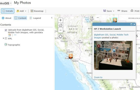 flickr photos in ArcGIS online